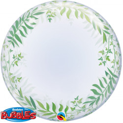 "ELEGANT GREENERY 24"" DECO BUBBLE"