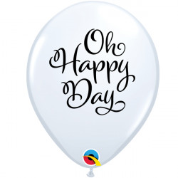 """SIMPLY OH HAPPY DAY 11"""" WHITE (25CT) LAC"""