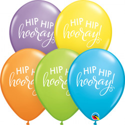 "SIMPLY HIP HIP HOORAY 11"" BRIGHT PASTEL ASST (25CT)"