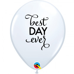 """SIMPLY THE BEST DAY EVER 11"""" WHITE (25CT) LAC"""