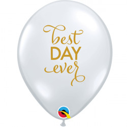 """SIMPLY THE BEST DAY EVER 11"""" DIAMOND CLEAR GOLD INK (25CT) LAC"""