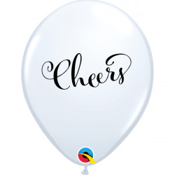 "CHEERS 11"" WHITE (25CT)"