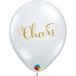 "CHEERS 11"" DIAMOND CLEAR GOLD INK (25CT)"