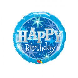 "SPARKLE BLUE BIRTHDAY 9"" FLAT"