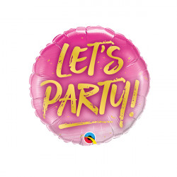 "LET'S PARTY 9"" INFLATED WITH CUP & STICK"