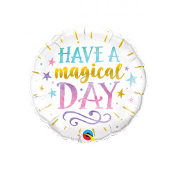 "HAVE A MAGICAL DAY 9"" INFLATED WITH CUP & STICK"