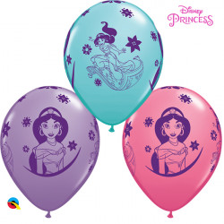 "DISNEY PRINCESS JASMINE 11"" CARIBBEAN BLUE, ROSE & SPRING LILAC (25CT)"