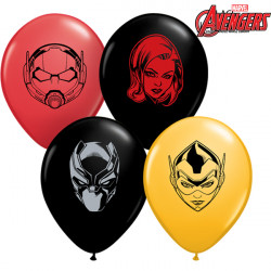 "AVENGERS ASSEMBLE CHARACTER FACES 5"" GOLDENROD, RED & ONYX (100CT)"