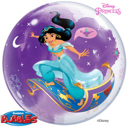 "DISNEY PRINCESS JASMINE 22"" SINGLE BUBBLE"