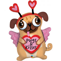 "PUGS & KISSES 36"" SHAPE GROUP B PKT"