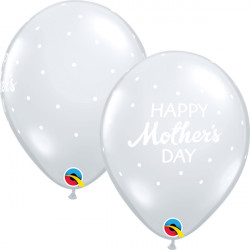 """PETITE POLKA DOTS MOTHER'S DAY 11"""" DIAMOND CLEAR (25CT) YGX"""