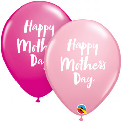 """SCRIPT MOTHER'S DAY 11"""" PINK & WILD BERRY (25CT) YGX"""