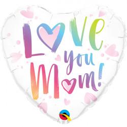 "LOVE YOU M(HEART)M 18"" PKT"