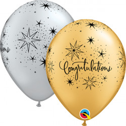 "CONGRATULATIONS ELEGANT 11"" GOLD & SILVER (25CT)"