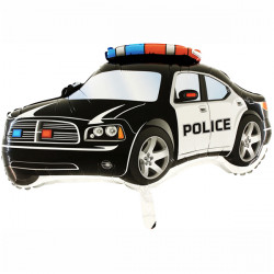 POLICE CAR BLACK GRABO SHAPE FLAT