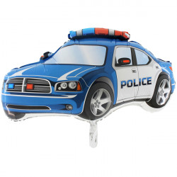 POLICE CAR BLUE GRABO SHAPE FLAT