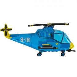 HELICOPTER BLUE GRABO SHAPE FLAT