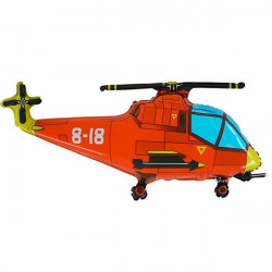 HELICOPTER RED GRABO SHAPE FLAT