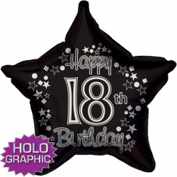 "BLACK FANTASIE 18TH BIRTHDAY 18"" SALE"