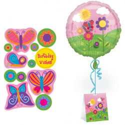 """BUTTERFLY WISHES HAPPY BIRTHDAY 18"""" SCENE SETTER SALE"""