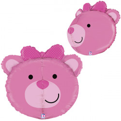 "BEAR BABY GIRL 27"" DIMENSIONALS SHAPE D3 PKT"