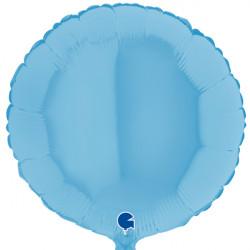 "BLUE MATTE ROUND 18"" GRABO FLAT"