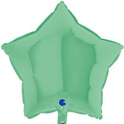"GREEN MATTE STAR 18"" GRABO FLAT"
