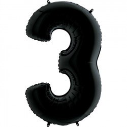 "BLACK NUMBER 3 SHAPE 26"" PKT"