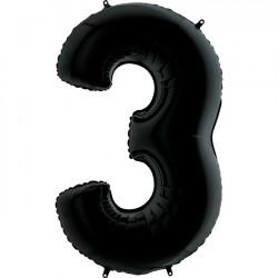 """BLACK NUMBER 3 SHAPE 26"""" PKT"""