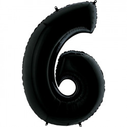 "BLACK NUMBER 6 SHAPE 26"" PKT"
