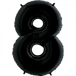 "BLACK NUMBER 8 SHAPE 26"" PKT"