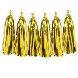 TASSLE GARLAND GOLD (12 TASSLES 1.5M)