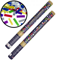 CONFETTI CANNON RECTANGLE METALLIC MIX 60CM