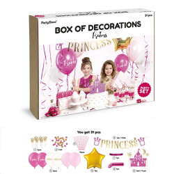 PARTY DECORATIONS PRINCESS 31 PIECE SET