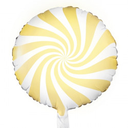 "PASTEL YELLOW CANDY SWIRL 18"" PKT"