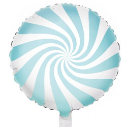 "PASTEL LIGHT BLUE CANDY SWIRL 18"" PKT"