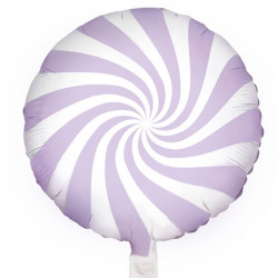 "PASTEL LILAC CANDY SWIRL 18"" PKT"