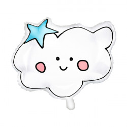 "CUTE SMILE CLOUD SHAPE 21""x17"" PKT"