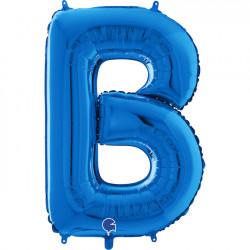 "BLUE LETTER B SHAPE 26"" PKT"