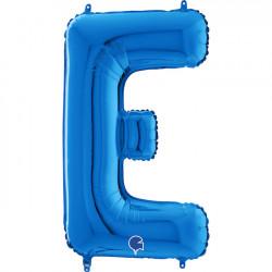 "BLUE LETTER E SHAPE 26"" PKT"