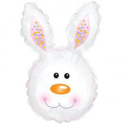 "BUNNY HEAD WHITE SHAPE-A-LOON 30"" CTI PKT"