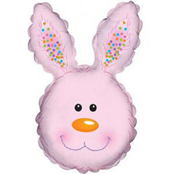 "BUNNY HEAD PINK SHAPE-A-LOON 30"" CTI PKT"