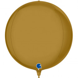 "GOLD SATIN GLOBE 15"" PKT"
