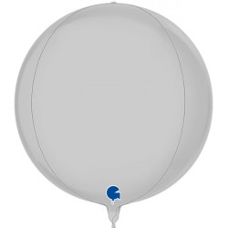 "WHITE SATIN GLOBE 15"" PKT"