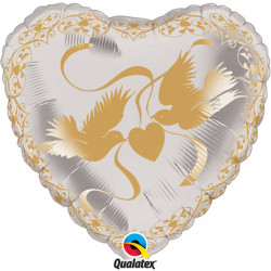 "DOVES & ROSES GOLD 21"" CRYSTAL FLAT SALE"