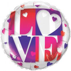 """LOVE PURPLE 21"""" CRYSTAL FLAT SALE"""