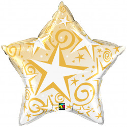 "STARBURSTS GOLD 20"" STAR FLAT SALE"