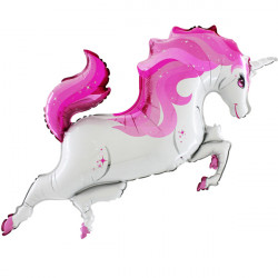 "UNICORN BODY PINK GRABO 48"" SHAPE FLAT"