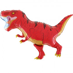 DINO T-REX RED GRABO SHAPE FLAT