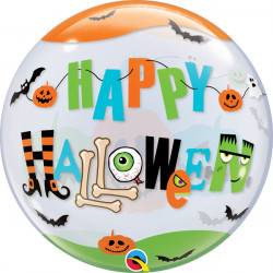 "HALLOWEEN FUN FONT 22"" SINGLE BUBBLE YRV"